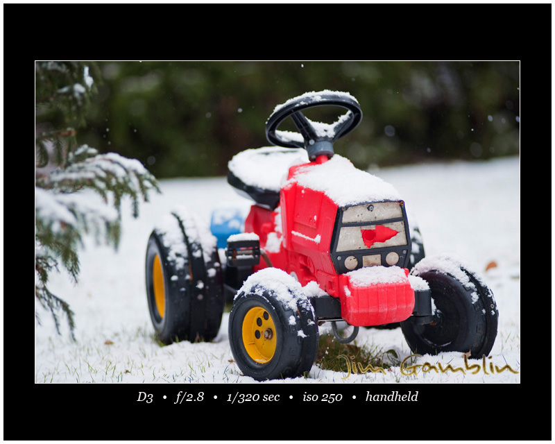 Tractor in snow